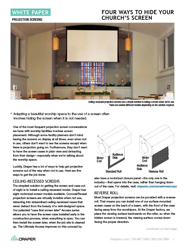 Four Ways to Hide Your Church's Screen